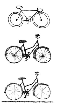 Bike and Run Adventure Racing on a Budget Bicycle Sketch, Bicycle Drawing, Bicycle Art, Bicycle Illustration, Illustration Art, Illustrations, Bicycle Pictures, Cute Little Drawings, Design Art