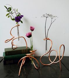 DIY Copper Coil Vases | via Design*Sponge | House & Home