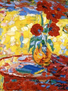 Vase with Poppies, Emil Nolde.