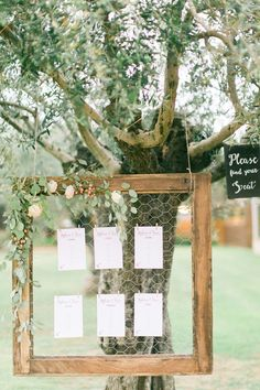 seating charts - photo by En Route Photography http://ruffledblog.com/spanish-destination-wedding-in-the-woods