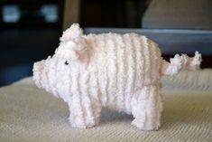 Stuffed Pig .. link to Martha Stewart pattern, but a few improvements ... ADORABLE