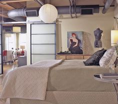 a mix between the hatch in LOST and a hip modern couple's bedroom