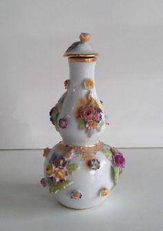Meissen Perfume Scent Bottle with Applied Flowers   eBay