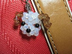 How to make a doggie head pendant with crystals.  #Beading #Jewelry #Tutorials