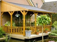 Most popular veranda deck patio design ideas with colorful photo gallery of favorite designer plans and diy construction tips. Curved Pergola, Gazebo Pergola, Metal Pergola, Deck With Pergola, Pergola Kits, Pergola Designs, Patio Design, Outdoor Rooms, Outdoor Living
