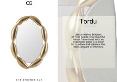 Exciting shapes and forms that make CG mirrors unashamedly the most exciting collection the world has ever known. See the new #mirror collection on www.christopherguy.com  #christopherguy #artdeco #tordu