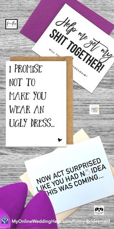 Funny bridesmaid proposal cards Ideas to help you ask friends and family to be part of the wedding party There are different sayings Read more on the page or buy They run. Asking Bridesmaids, Bridesmaid Boxes, Bridesmaid Proposal Cards, Bridesmaids And Groomsmen, Wedding Bridesmaids, Wedding Tips, Our Wedding, Wedding Planning, Wedding Hacks
