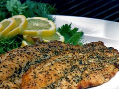 Pat's Smoked Catfish Recipe : Patrick and Gina Neely : Recipes : Food Network Grilling Recipes, Seafood Recipes, Catfish Recipes, Tilapia Recipes, Grilled Fish, Grilled Salmon, Smoked Fish, Smoking Recipes, Fish Dishes
