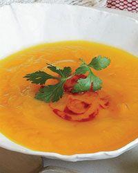 Gingery Sweet Potato Soup // More Vegetarian Soups: http://www.foodandwine.com/slideshows/vegetarian-soups #foodandwine