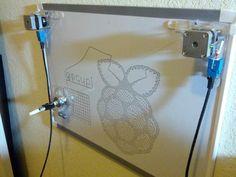 gocupi: Go + Raspberry Pi polargraph/drawbot #piday #raspberrypi @Raspberry_Pi