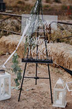 clear acrylic wedding signage