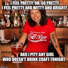 It's #ThirstyThursday, #craftbeergirls, who's thirsty?? #cheers!!  #BrewerShirts #RealWomenEnjoyCraftBeer ➕ #WestSideStory #mashup = #BrewerShirtsMemes  #LifeIsShortDrinkGOODBeer