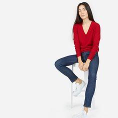 French Minimalist cashmere sweater