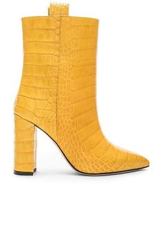 New Womens Leather Ankle Boots High Chunky Heels Pointy Toe Shoes Big Size Womens Leather Ankle Boots, Mid Heel Ankle Boots, Mid Calf Boots, Ankle Booties, Paris Texas, Yellow Shoes, Short Boots, Chunky Heels, Me Too Shoes