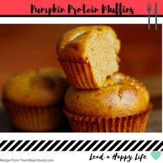 Pumpkin Protein Muffins 21 Day Fix Containers: .5R .5B/O Total Time ...