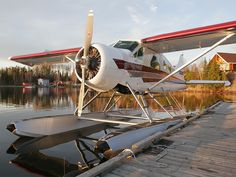 De-Havilland Beaver takes you to the remote outpost camps in Wabakimi Wilderness Park.  I saw this plane while on a wilderness canoe trip in Wabakimi in 1998.