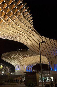 The unusual Metropol Parasol, Seville, Spain