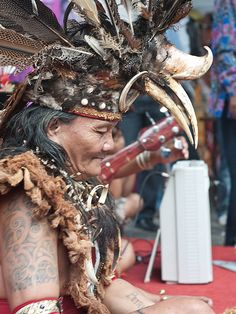 Petrus, Dayak storyteller from Bengkayang West borneo Indonesia