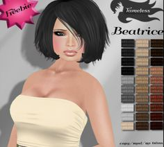 Second Life Freebies and more: Beatrice Hair Freebie