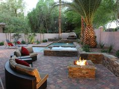 landscaping with palms | Outdoor Living with Mature Landscaping and Palm Trees : Designers ...