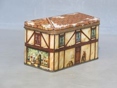 Vintage Ye Olde Village Shop English Tea Tin / by MilkasTreasures, $11.00