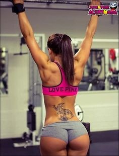 fitness girl and tattos