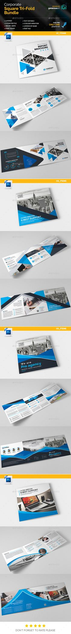 #Bundle_Square Tri-Fold 4 in 1 - Corporate #Brochures Download here: https://graphicriver.net/item/bundle_square-trifold-4-in-1/19294864?ref=alena994