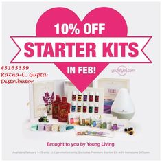 10% off Sale on Essential Oil starter Kits for FEBRUARY