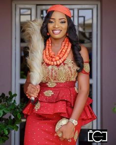 40 Gorgeous Wedding Dress Styles For Your African Traditional Wedding - The Glossychic Nigerian Wedding Dresses Traditional, Traditional Wedding Attire, African Traditional Dresses, African Lace Dresses, Latest African Fashion Dresses, African Print Fashion, African Wedding Attire, African Attire, Gorgeous Wedding Dress