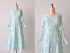 Vintage Priscilla of Boston Lace Dress Gown by TheVintageMistress