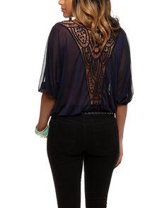 So pretty! rue21 Crochet Back Shirt. $21.99