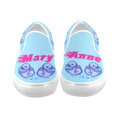 Baby dolphins Women's Unusual Slip-on Canvas Shoes (Model 019)