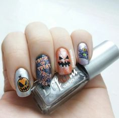 Halloween nail art! Trick or treat!