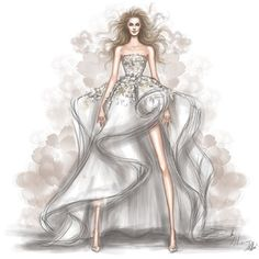 @ashistudio couture gown illustrated by @shamekhbluwi
