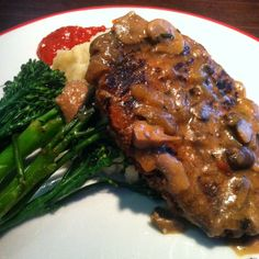 Vegan meatloaf over Mashed Potatoes with Broccolini at (Photo Credit: Reidy) Vegan Meatloaf, Photo Credit, Mashed Potatoes, Photos, Instagram, Food, Whipped Potatoes, Smash Potatoes, Eten