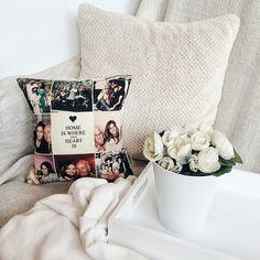 Poduszka ze zdjęciami z instagrama, facebooka, dysku komputera lub telefonu to dobry pomysł na prezent, poduszki dekoracyjne, fotopoduszka. Inspiracje i dekoracje do domu i mieszkania, zrób to sam. Stwórz własną na www.persalo.pl Throw Pillows, Inspiration, Instagram, Home, Toss Pillows, Cushions, Biblical Inspiration, House, Ad Home