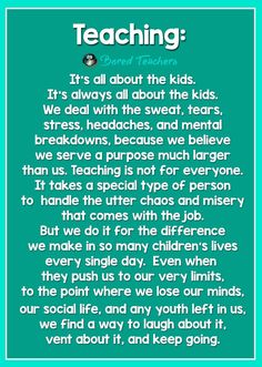 An unrealistic workload is utter misery...not the kids. They are the reason it's worth it.