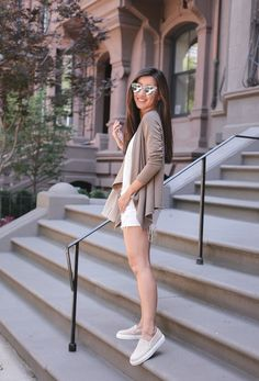 I appreciate a chic slip-on, especially for travel or casual everyday outfits.Gemi Cerchios are the grownup version of our sneakers from the past. Casual Summer Outfits, Spring Outfits, Extra Petite, Work Casual, Everyday Outfits, Leather Sneakers, Spring Summer Fashion, Fashion Outfits, White Shorts