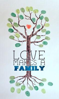 love makes a family art