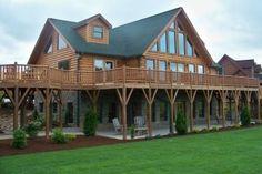 One of many log home floor plans I like