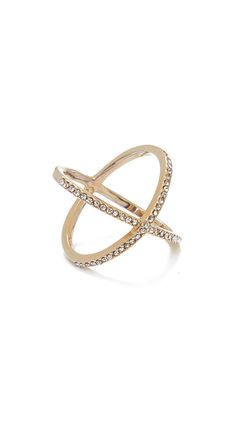 This minimalist ring is sleek and sparkly! Two crystal bands come together for instant glamification. A customer favorite that we can barely keep in stock - get yours at Jeweliq!