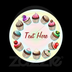 #Cupcakes #Colorful #Circle #Sticker © bluedarkat
