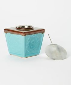 Another great find on #zulily! Turquoise Blooms Fireside Firepot #zulilyfinds