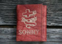 Personalized Trifold Leather Wallet by mini-Fab   Hatch.co
