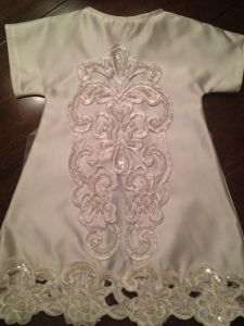Angel Gowns, made from old wedding dresses. If you can sew, you can volunteer for this program. Click for more info...