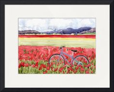 """""""Bicycling+through+the+tulips""""+by+Kathy+Johnson,+Seattle,+Washington+//+The+tulip+fields+in+Skagit+Valley,+north+of+Seattle,+provide+a+colorful+landscape+for+bike+riding.++This+image+was+used+as+a+wine+label+for+NW+Cellars+2006+Sauvignon+Blanc+as+part+of+the+bicycle+wine+series.+//+Imagekind.com+--+Buy+stunning+fine+art+prints,+framed+prints+and+canvas+prints+directly+from+independent+working+artists+and+photographers."""