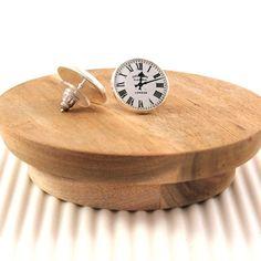 Railway Station vintage clock #handmade #earrings