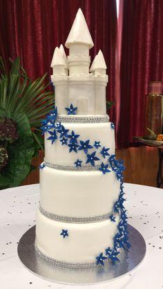 Castle wedding cake Castle Wedding Cake, Wedding Cakes, Desserts, Tailgate Desserts, Wedding Pie Table, Dessert, Wedding Cake, Deserts, Cake Wedding