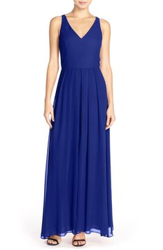 Adelyn Rae Chiffon Maxi Dress