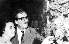 Jânio Quadros e sua esposa Dona Eloá estiveram na Festuva de 1961